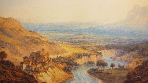 J. W. Smith, Papigno e la Nera che scorre verso la valle di Terni