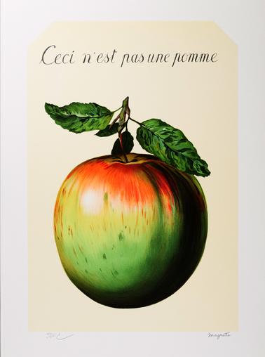 Magritte, Ceci n'est pas une pomme