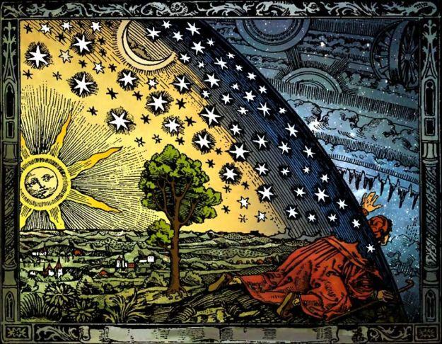 """Illustrazione dall' """"Astronomia"""" di Camille Flammarion"""
