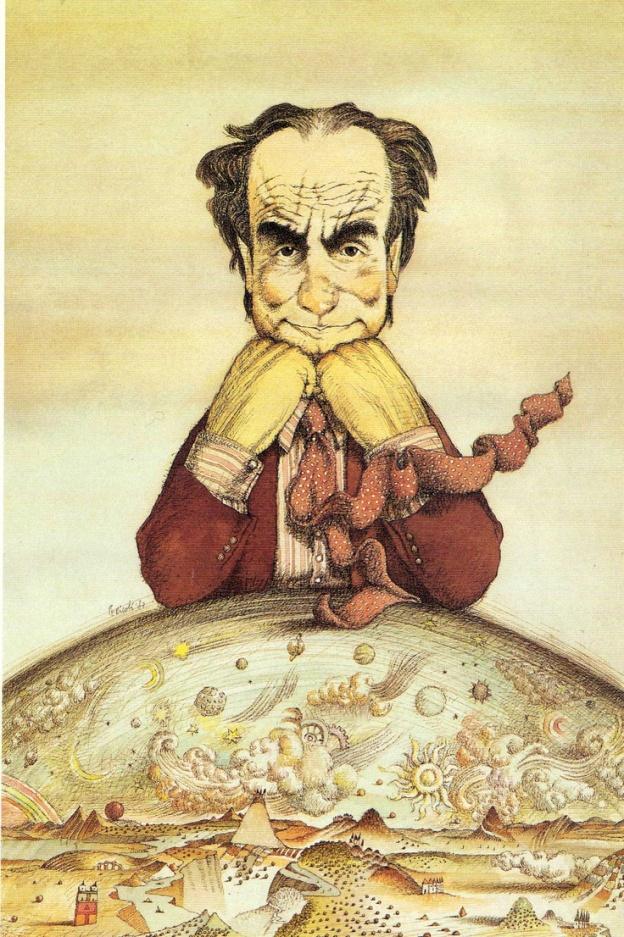 Italo Calvino ritratto da Tullio Pericoli