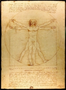 Leonardo Da Vinci, L'uomo vitruviano