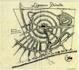 """Lignano Pineta: la """"chiocciola"""" di Marcello D'Olivo"""